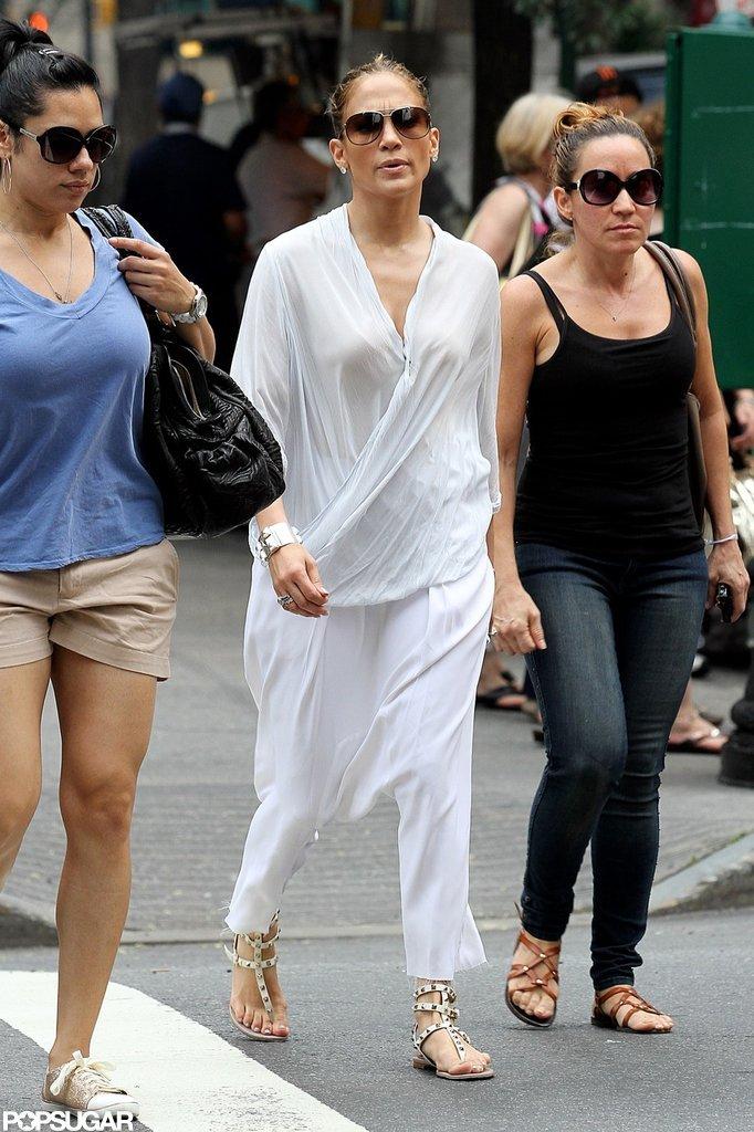 Jennifer Lopez took a walk through NYC.