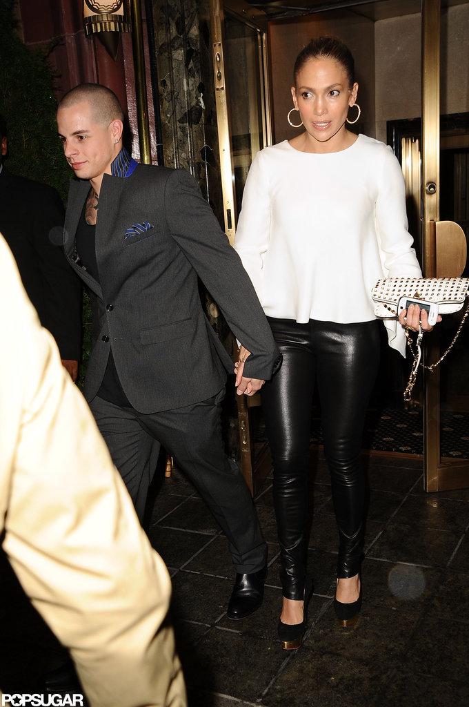 Jennifer Lopez and Casper Smart held hands in NYC.