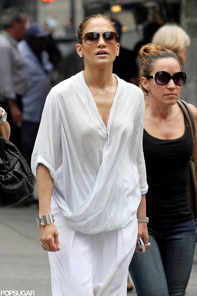 Jennifer Lopez was out and about in NYC.