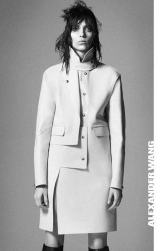 Alexander Wang's Fall 2012 campaign features streamlined and structured pieces.
