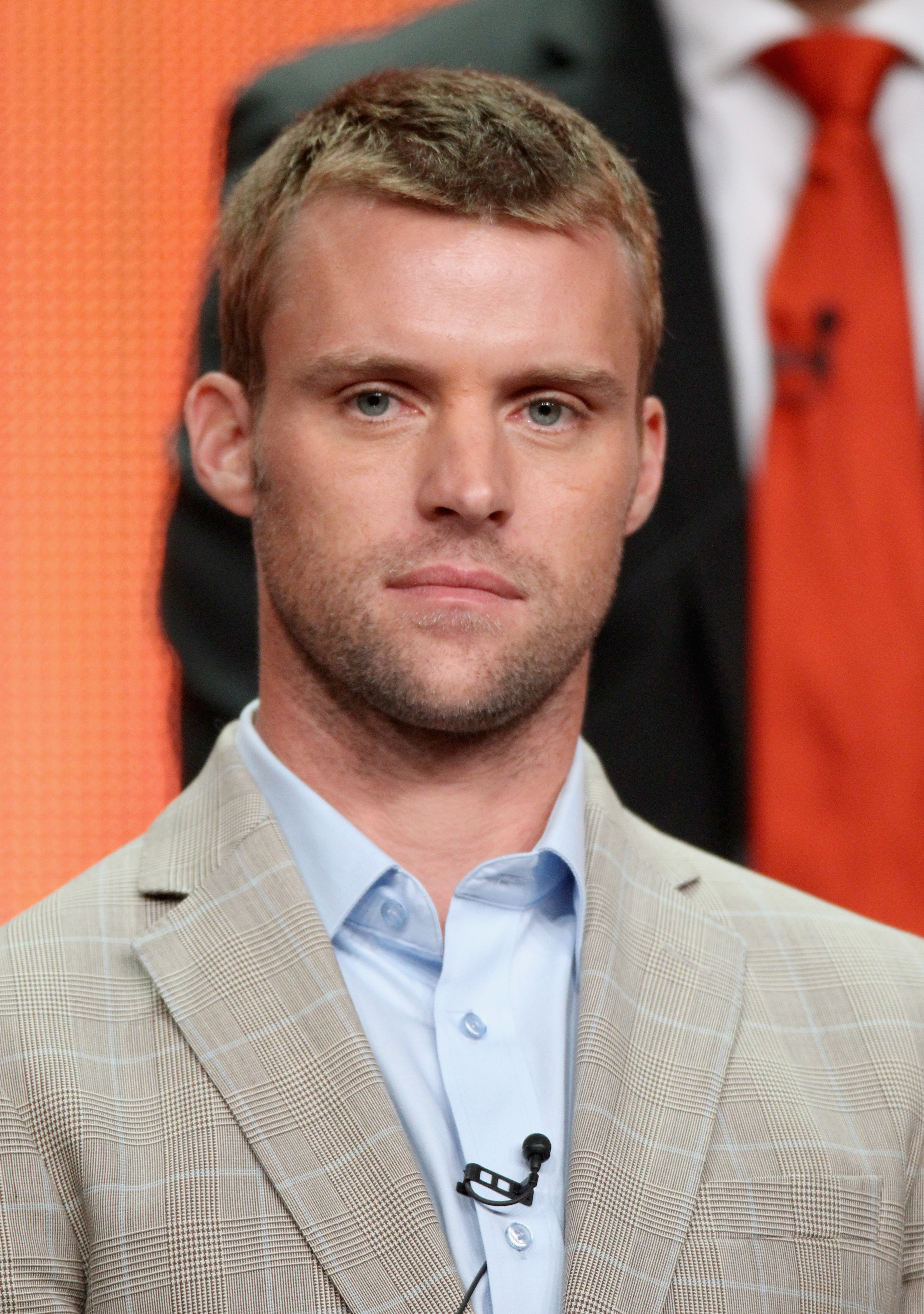 Jesse Spencer (House) looked dapper onstage at the Chicago Fire panel.
