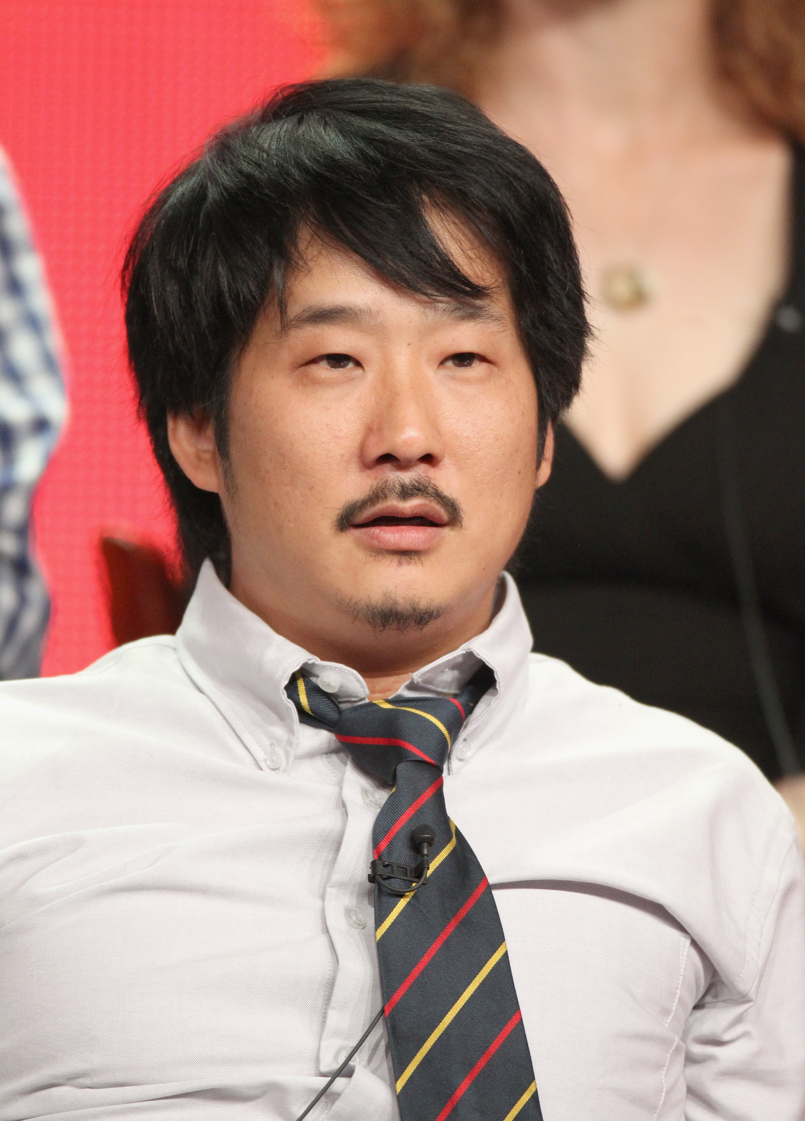 Bobby Lee addressed the press during Animal Practice's TCA press conference.