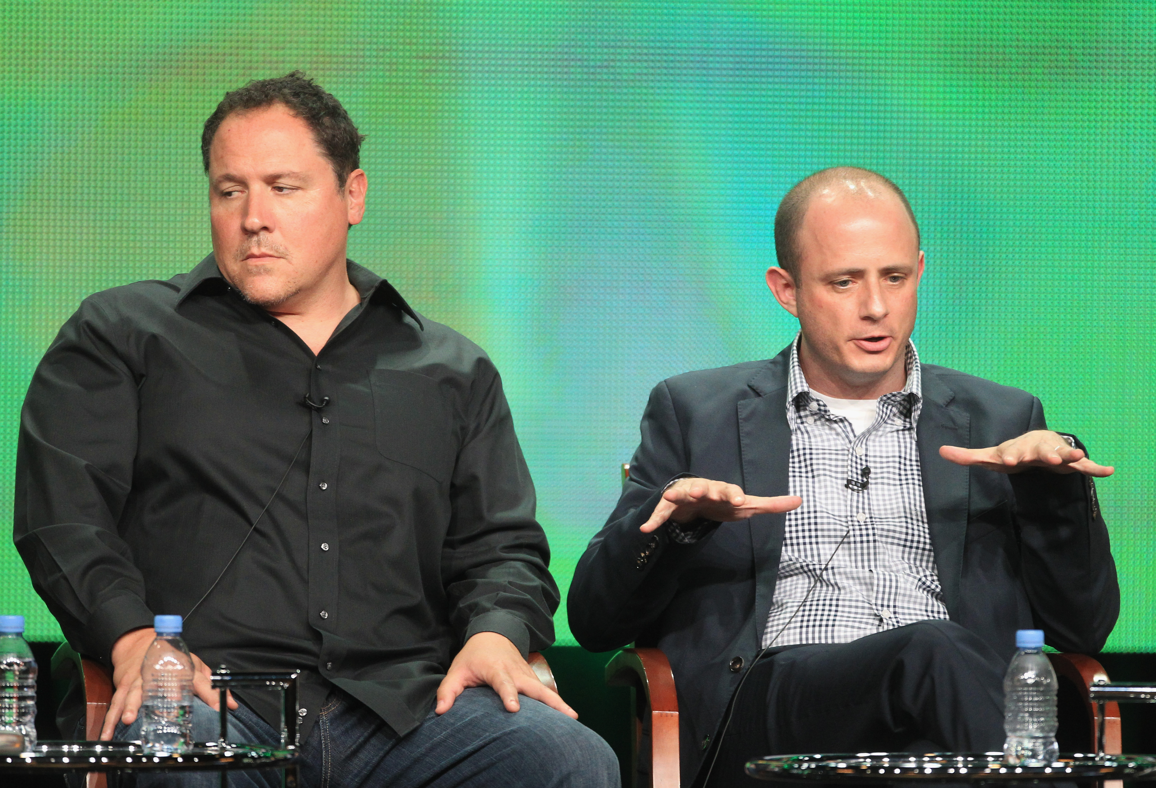 Revolution's executive producers Jon Favreau and Eric Kripke answered questions about the show at the TCA panel.