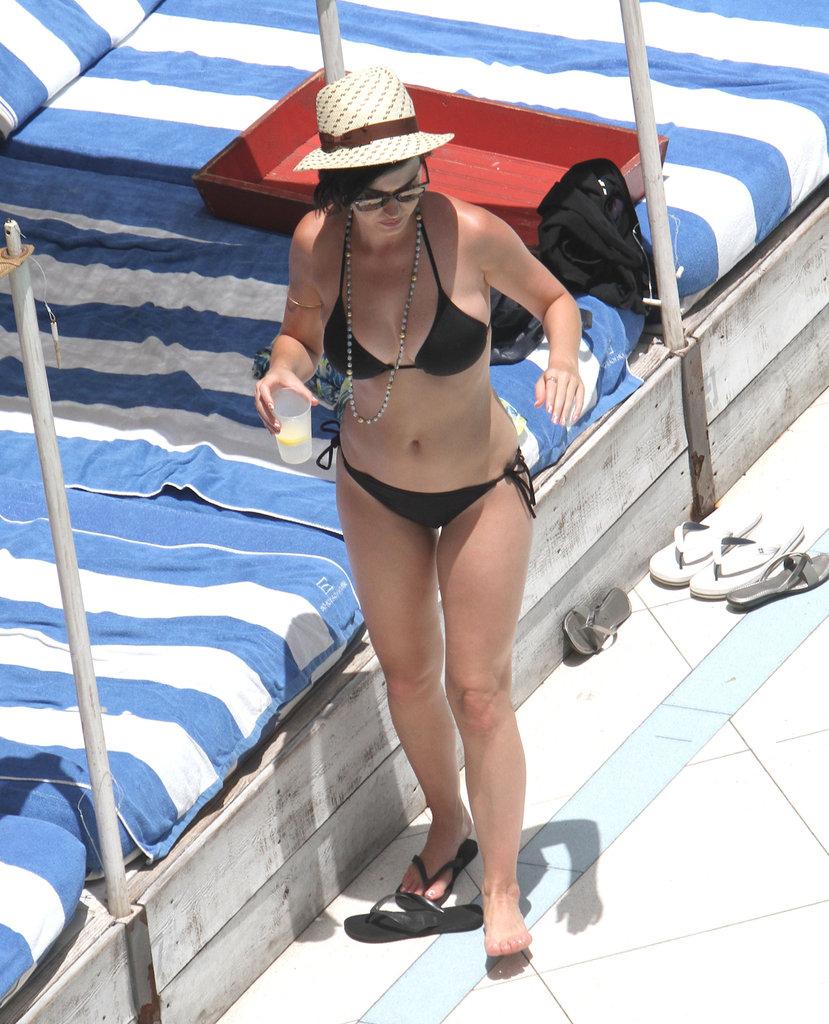 Katy showed off her bikini body in Miami in July 2012.