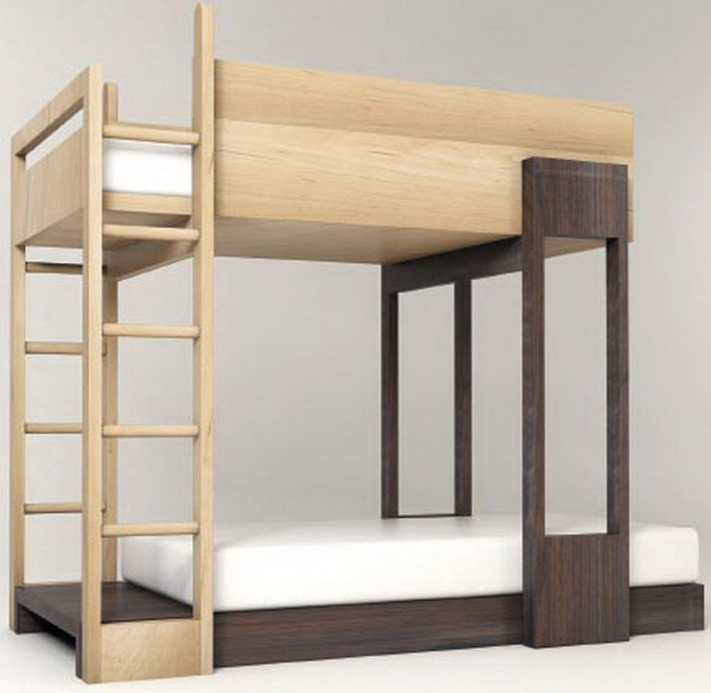Pluunk bunk bed bunk up contemporary bunk beds for mod for Kids bed design