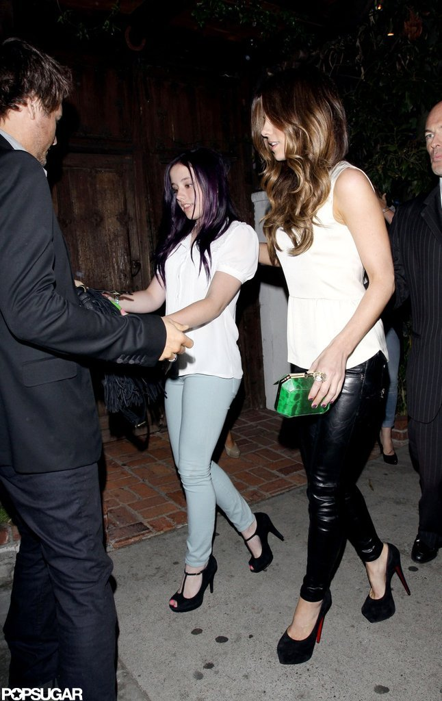 Kate Beckinsale and Len Wiseman went to dinner with her daughter Lily Sheen.