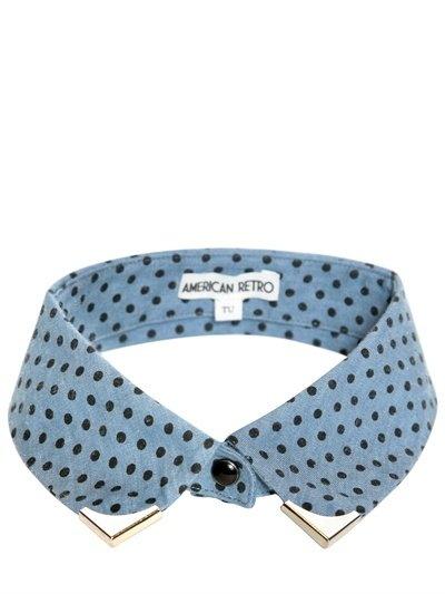 This slightly '60s polka-dot collar would be a great addition to a plain black button-up blouse. American Retro Polka-Dot Collar ($62)