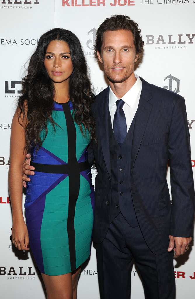 Matthew McConaughey and his pregnant wife Camila attended a NYC screening of Killer Joe on July 23.