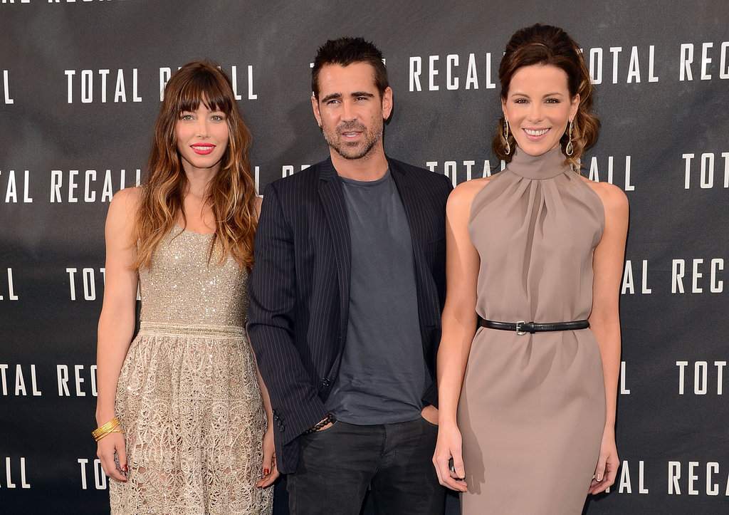Jessica, Colin, and Kate Make a Terrific-Looking Total Recall Threesome