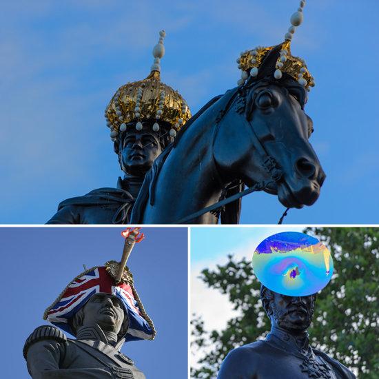 Hatwalk London Statues' New Hats