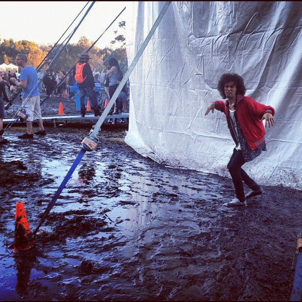 Splendour was muddy . . . Source: Instagram user dannyclayton