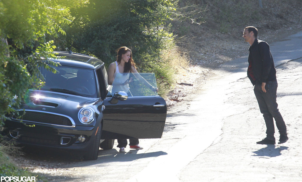 Rupert Sanders and Kristen Stewart pulled off to the side of the road.