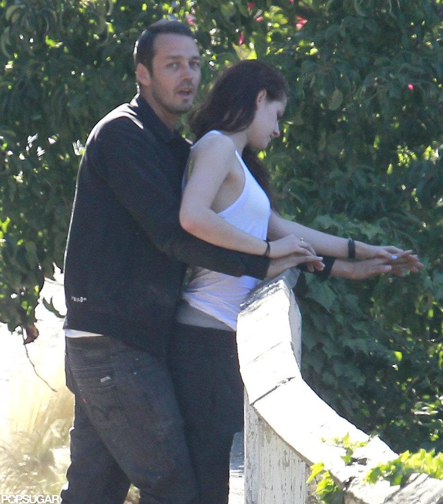Kristen Stewart held hands with Rupert Sanders.