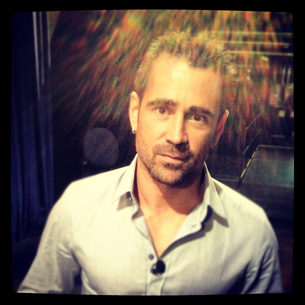 colin farrell hung out backstage at the tonight show