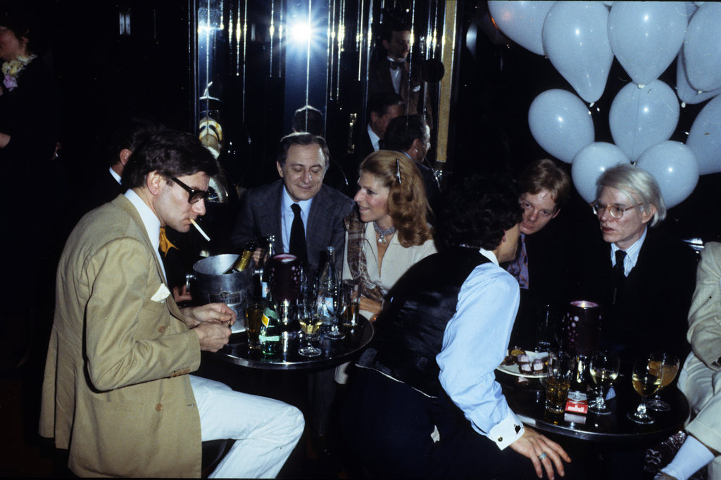 Look back at the life of yves saint laurent popsugar fashion australia - Les bains douche paris discotheque ...
