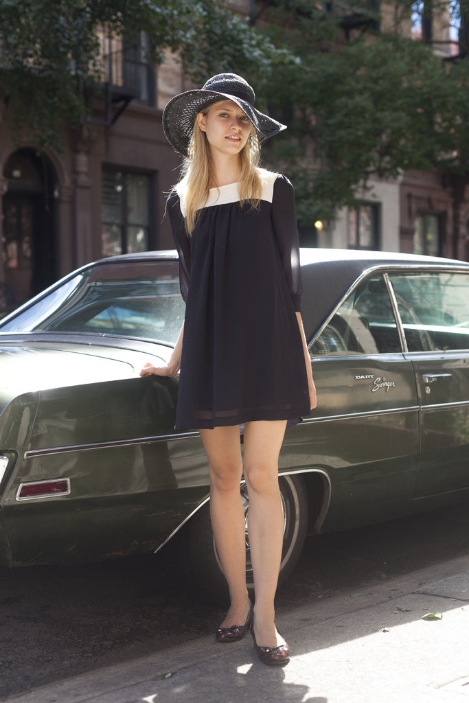 This styler knows just adding a hat can take her summery sundress way beyond the basics. Source: Adam Katz Sinding