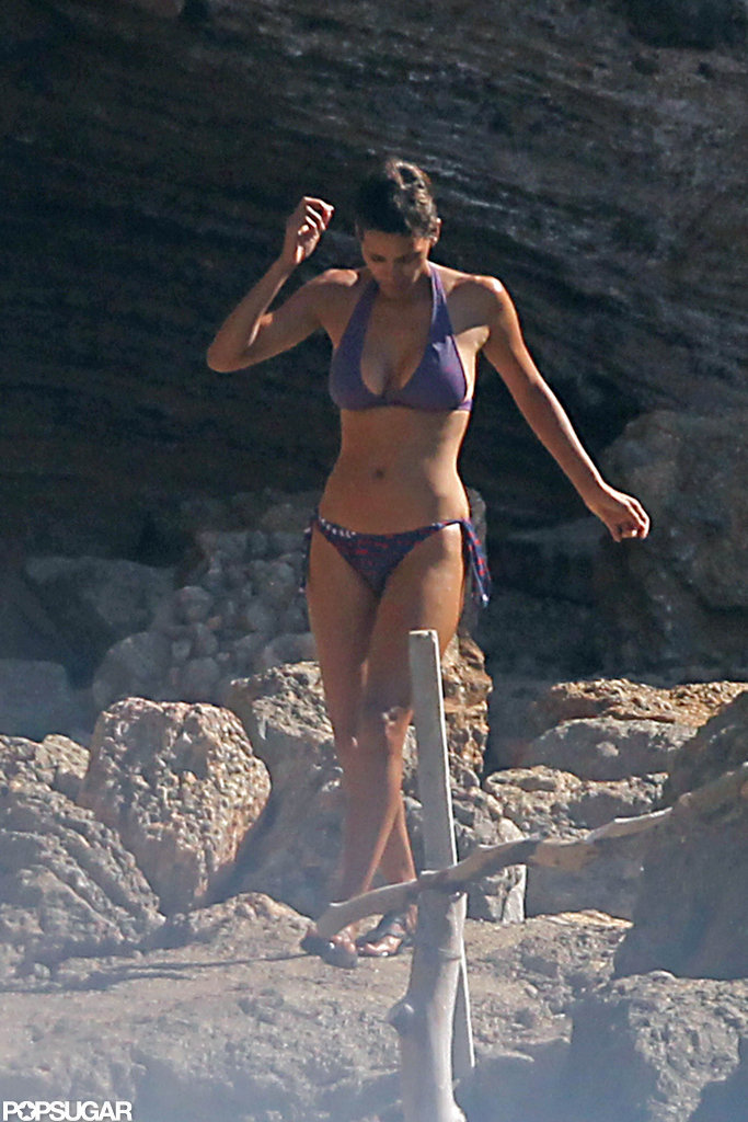 Halle wore a bikini for a dip in the ocean in Spain during a September 2011 trip.