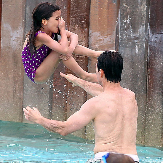Tom Cruise With Suri at a Disney Water Park