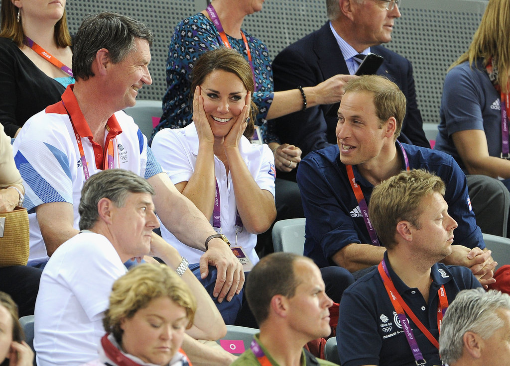 Prince William and Kate Middleton watched Olympic track cycling.