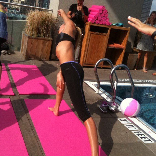 Candice Swanepoel is more than a pretty face. This supermodel has some serious yoga moves.