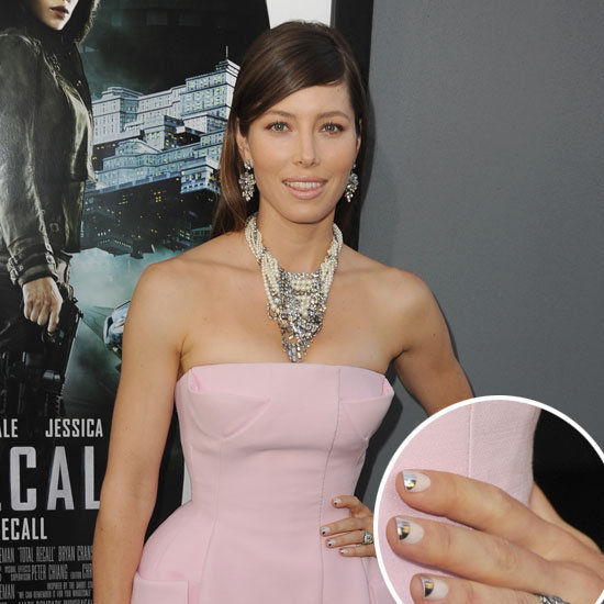 Jessica Biel's Silver Half Moon Manicure — Get the Look at Home