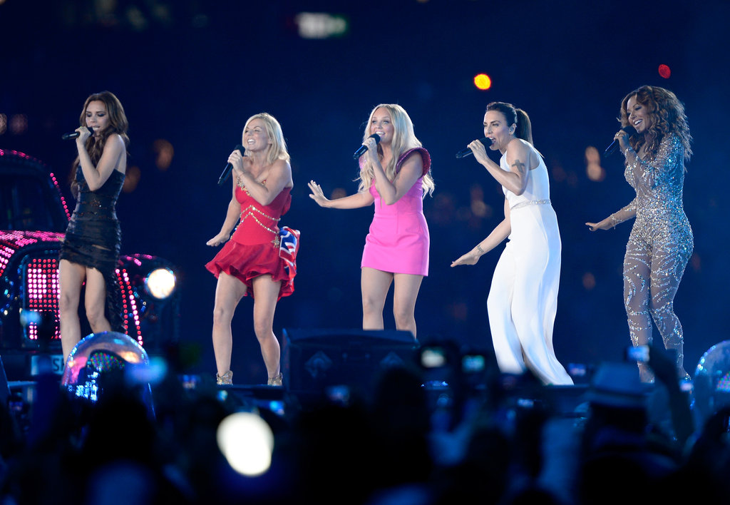 Victoria Beckham reunited with the Spice Girls for a performance during the Olympics closing ceremonies in August.