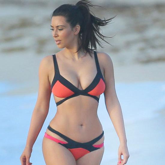 Kim Kardashian Bright Bikini Pictures
