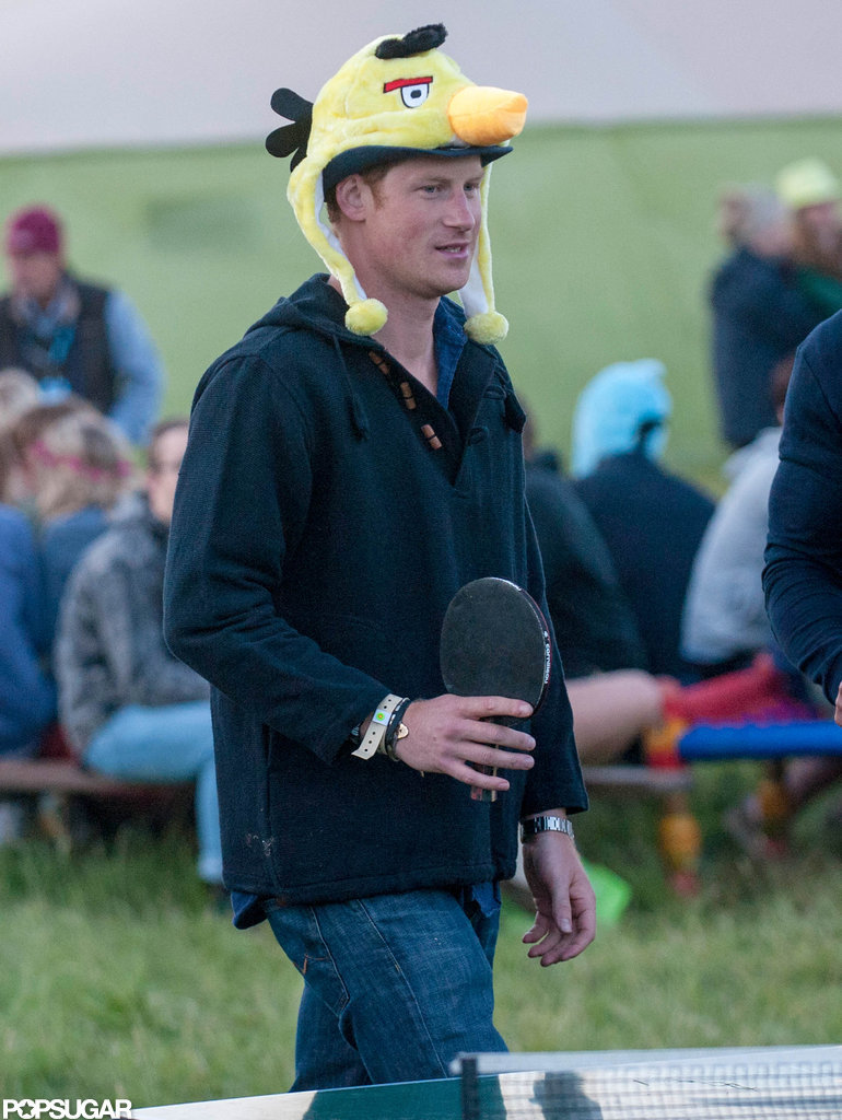 Prince Harry played ping-pong.