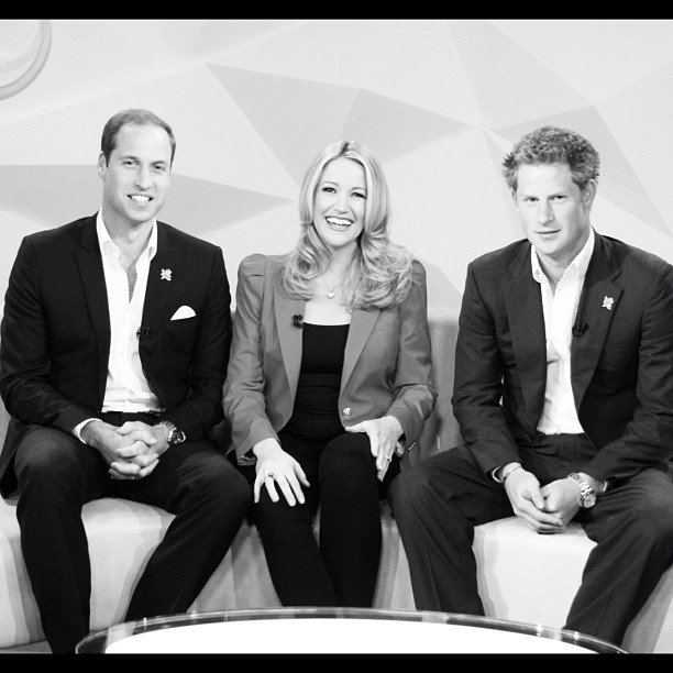 Leila McKinnon sat down with Prince William and Prince Harry for their first ever live TV interview. Source: Instagram user leilamckinnon