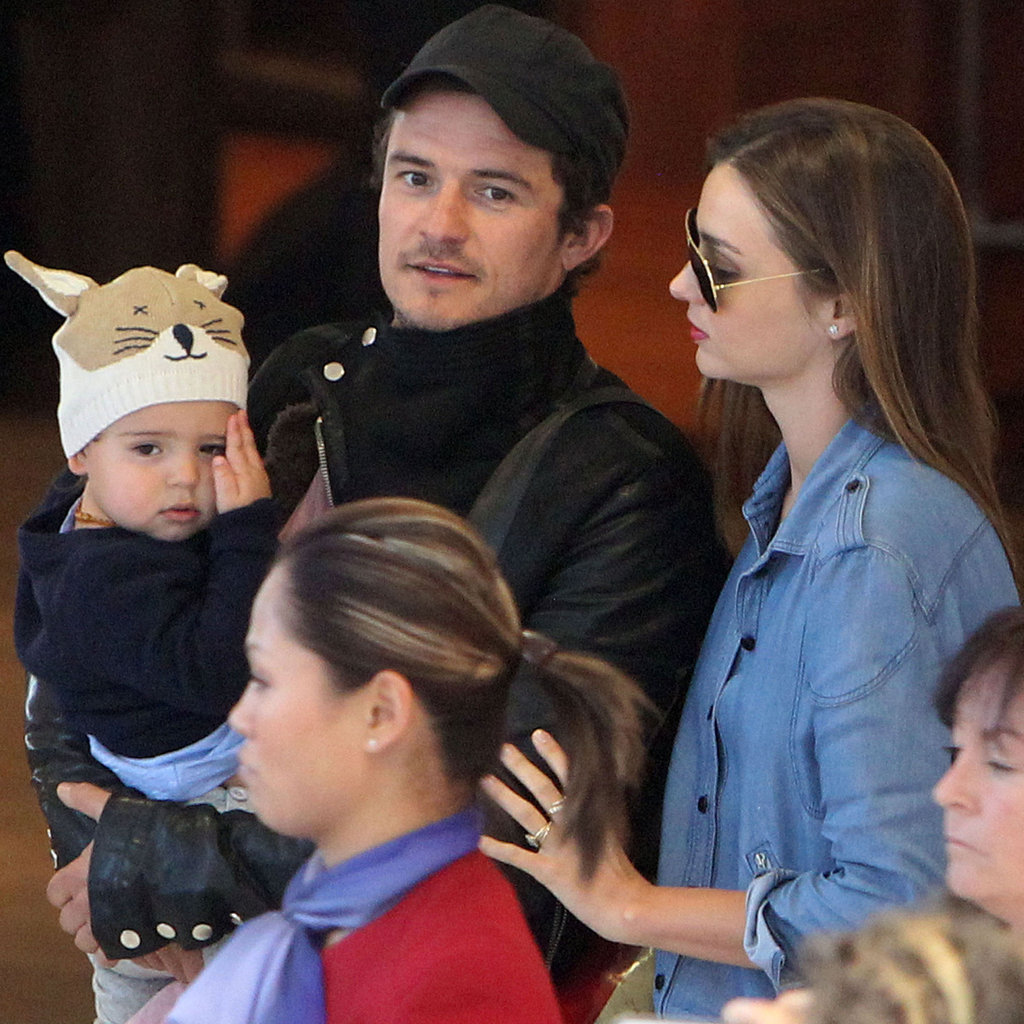 Miranda Kerr And Orlando Bloom With Flynn In Sydney