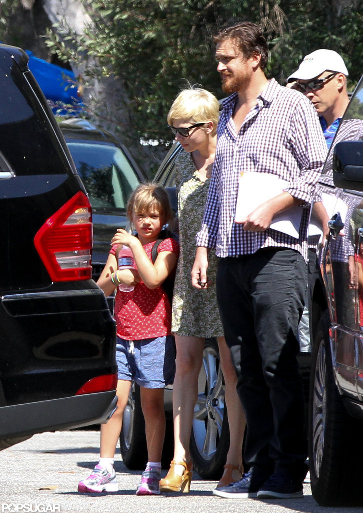 Michelle Williams and Jason Segel took Matilda to gymnastics in LA.