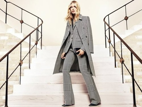 Suited up and caped in Escada Fall 2012.