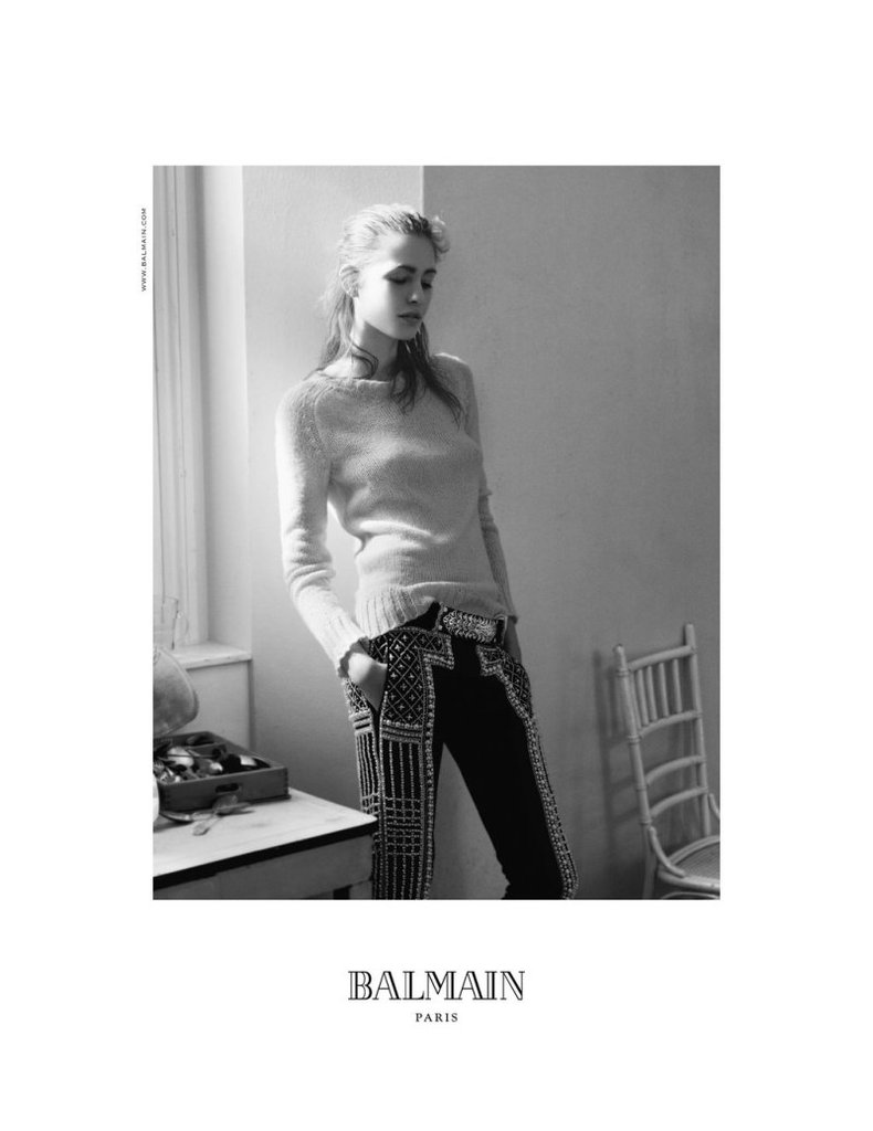 It's all about laid-back luxury paired with Balmain's rocker-chick glam vibe for Fall.