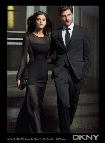 Johannes Huebl, Olivia Palermo's boyfriend, stars alongside Ashley Greene in DKNY's Fall ads.