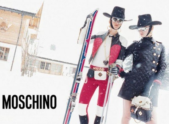 Ready for high fashion and a snowy domain with Moschino.