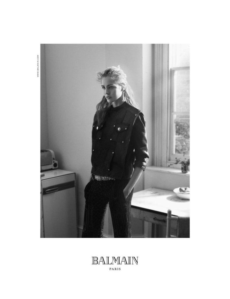 Photographer David Sims shot the Balmain Fall '12 campaign.
