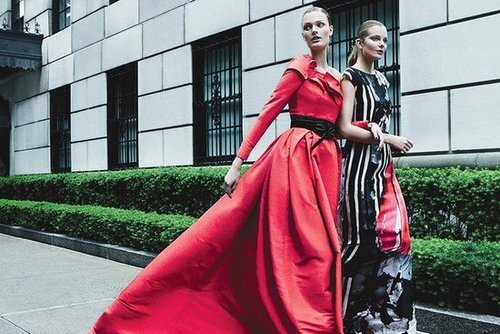 Leave it to Carolina Herrera to prove that the day was made for elegant ballgowns.