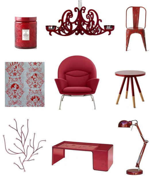 Red Home Decor Accessories: Ruby-Red Home Decor Shopping