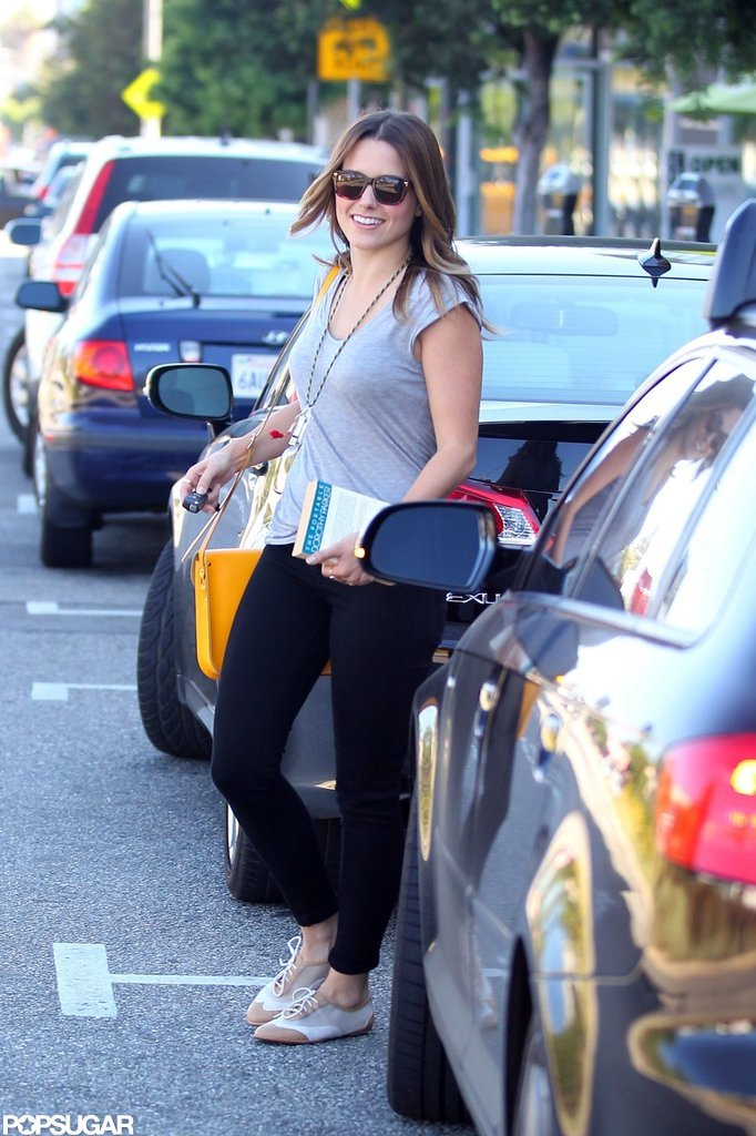 Sophia Bush took The Portable Dorothy Parker to lunch in LA in July 2012.