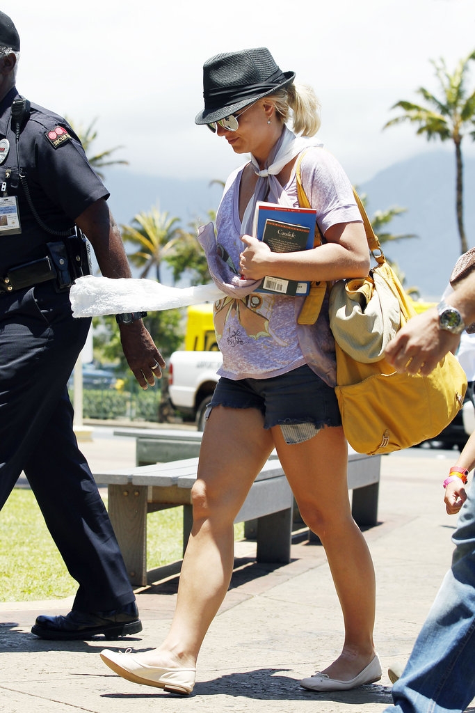 Britney Spears brought a copy of Voltaire's Candide home from a trip to Maui in July 2012.