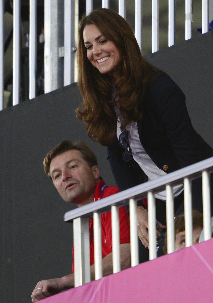 Kate Middleton laughed in the stands.