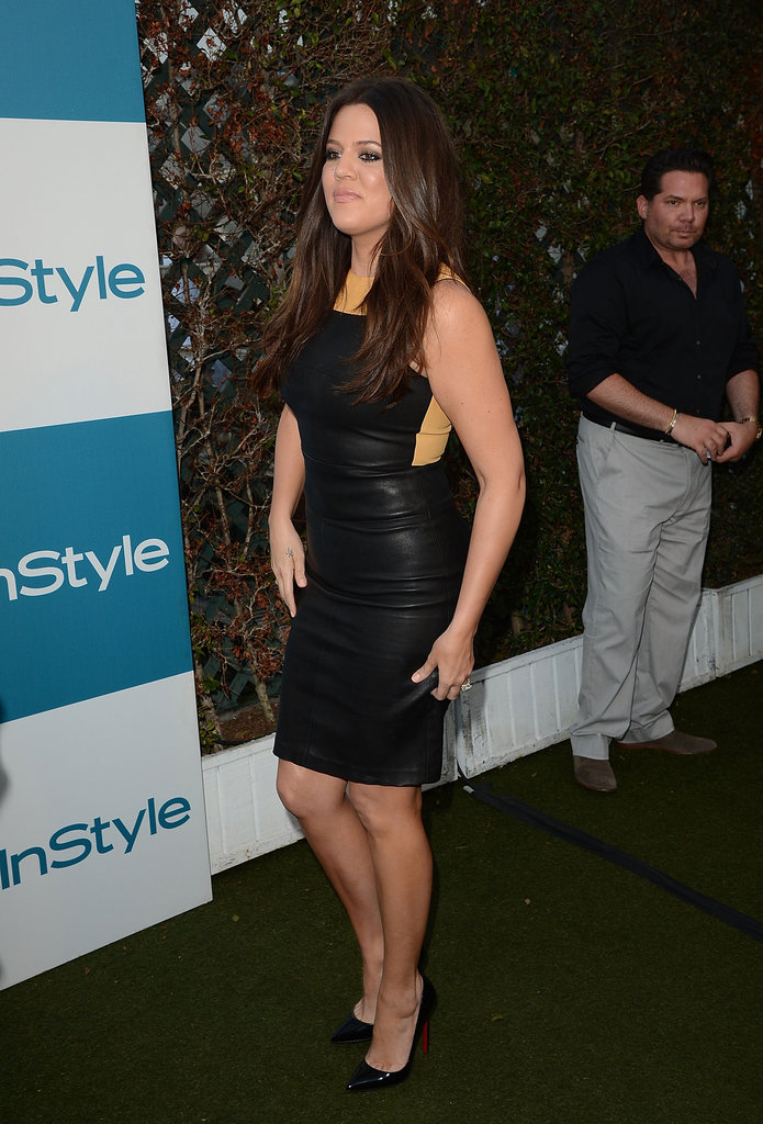Khloé Kardashian made her way into InStyle's Summer party in LA.