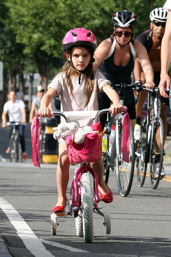 Look at her go! Suri looked like a natural.