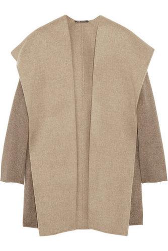 Vince|Hooded felted wool-blend coat|NET-A-PORTER.COM