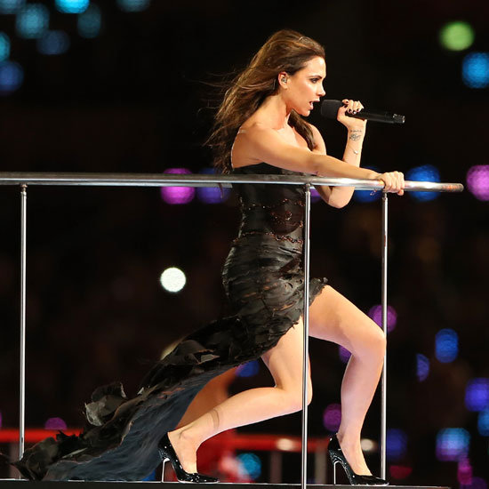 The Spice Girls Reunite for the London Olypics Closing Ceremony: Victoria Beckham, Mel B, Emma Bunton, Geri Halliwell & Mel C