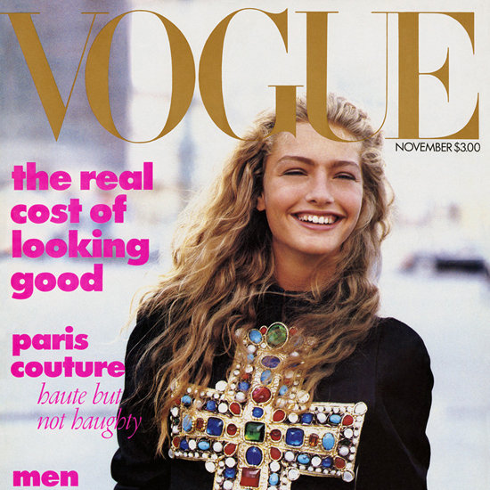 Anna Wintour on Her Very First Vogue Cover
