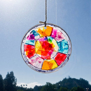 Easy Stained Glass Window Hanging Craft For Kids