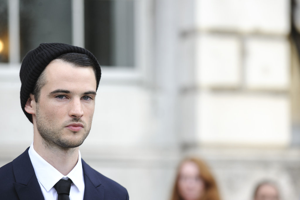 A candid shot of Tom Sturridge at the UK premiere of On The Road.