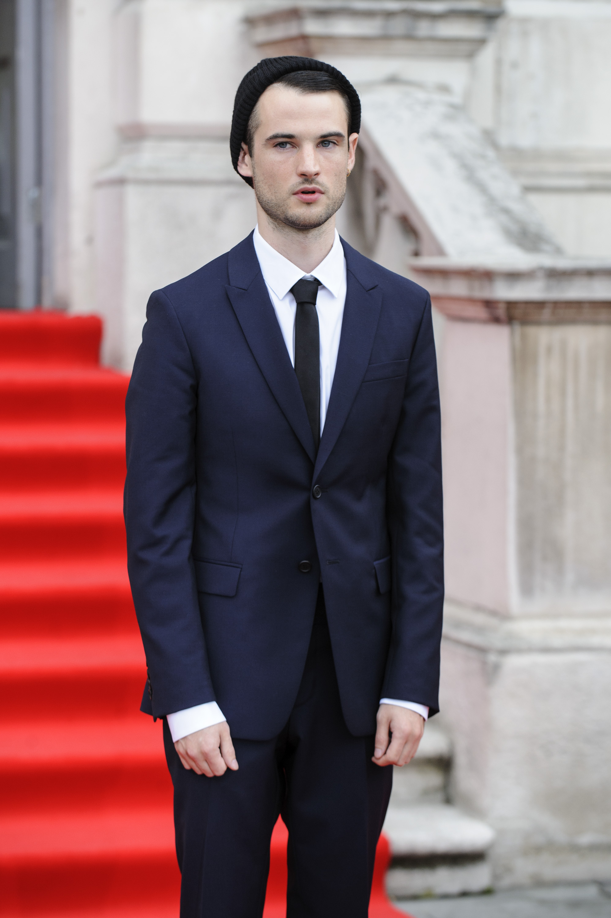 Tom Sturrdige attend the UK premiere of his new film On The Road.