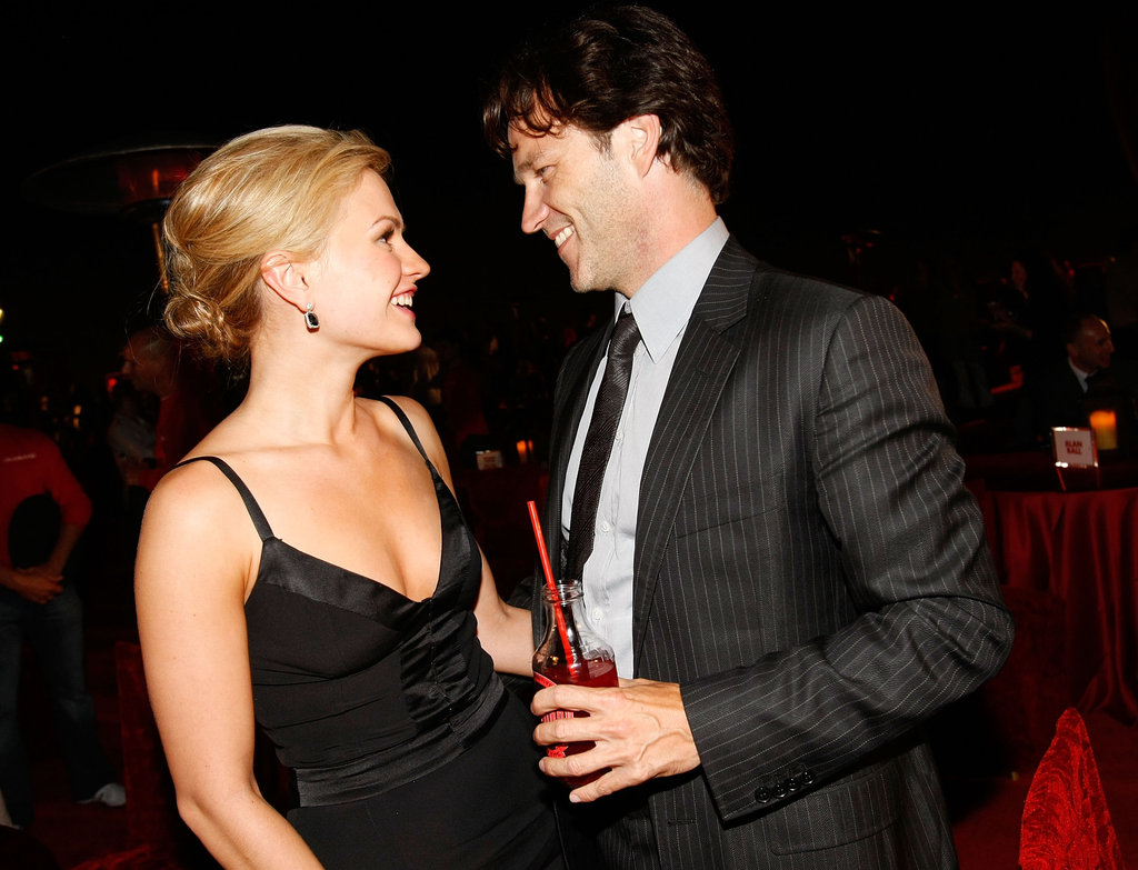Anna Paquin and Stephen Moyer shared a sweet look at an after party for True Blood in Hollywood in September 2008.